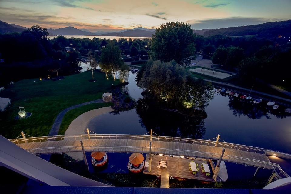 Seepark Hotel Klagenfurt, Blick auf die Lend Lagune