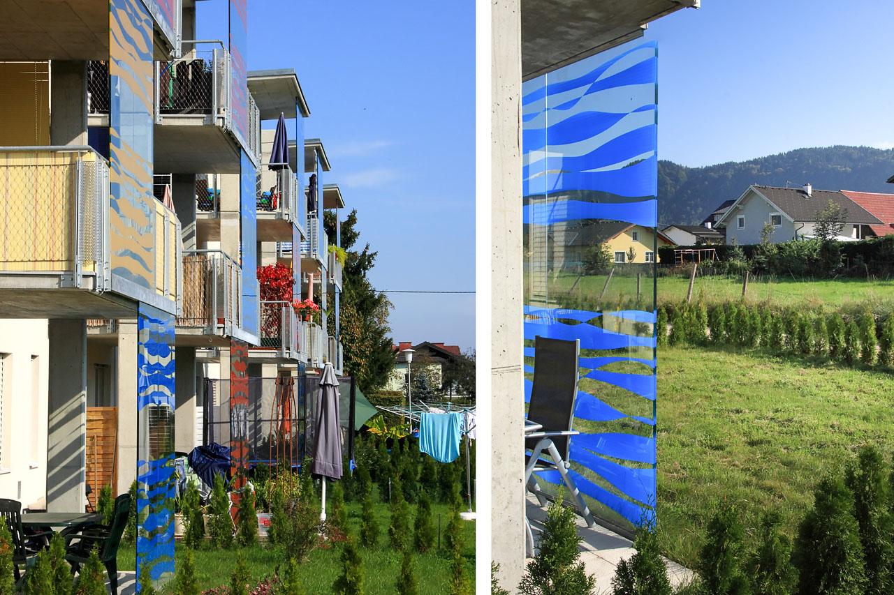 Eigengärten und Balkone: farbenfroher Sichtschutz