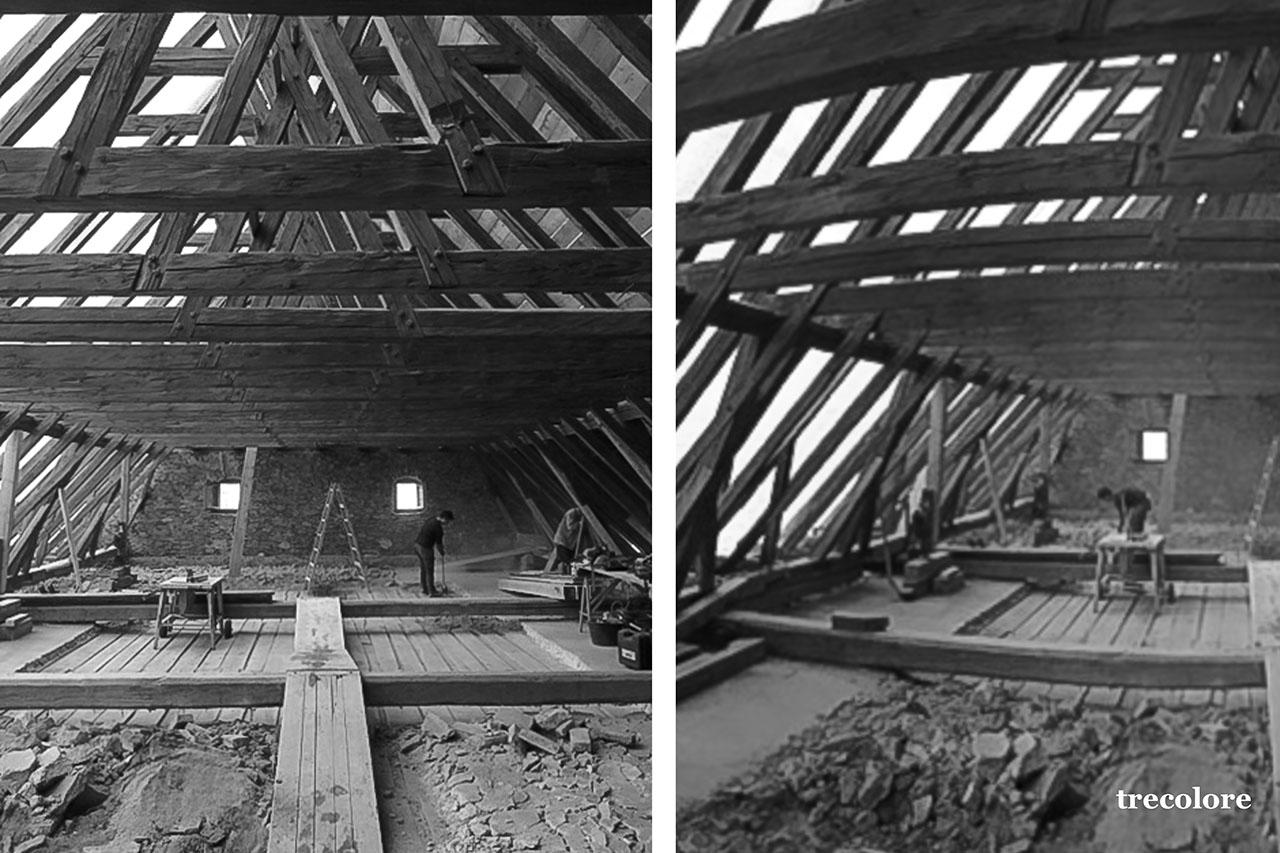 Umbau- und Sanierungsarbeiten am Dachstuhl